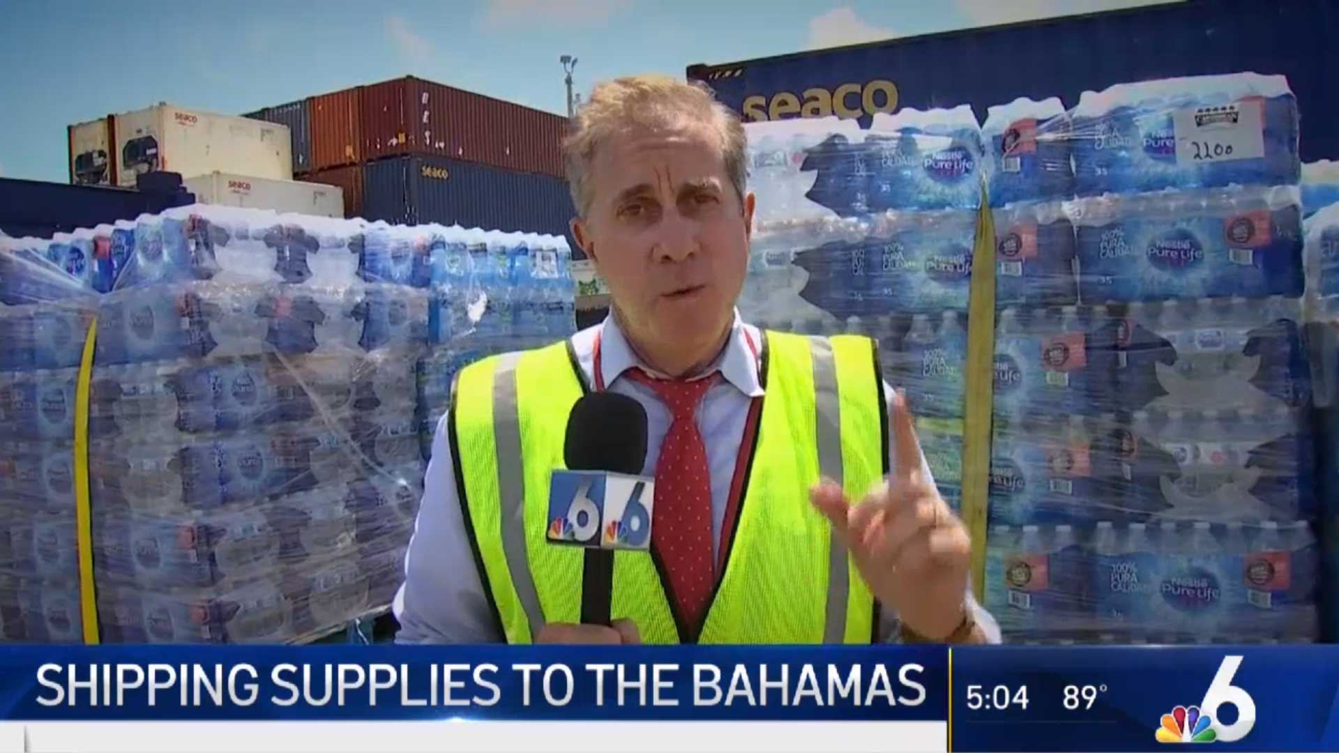 screenshot of news channel video on shipping supplies