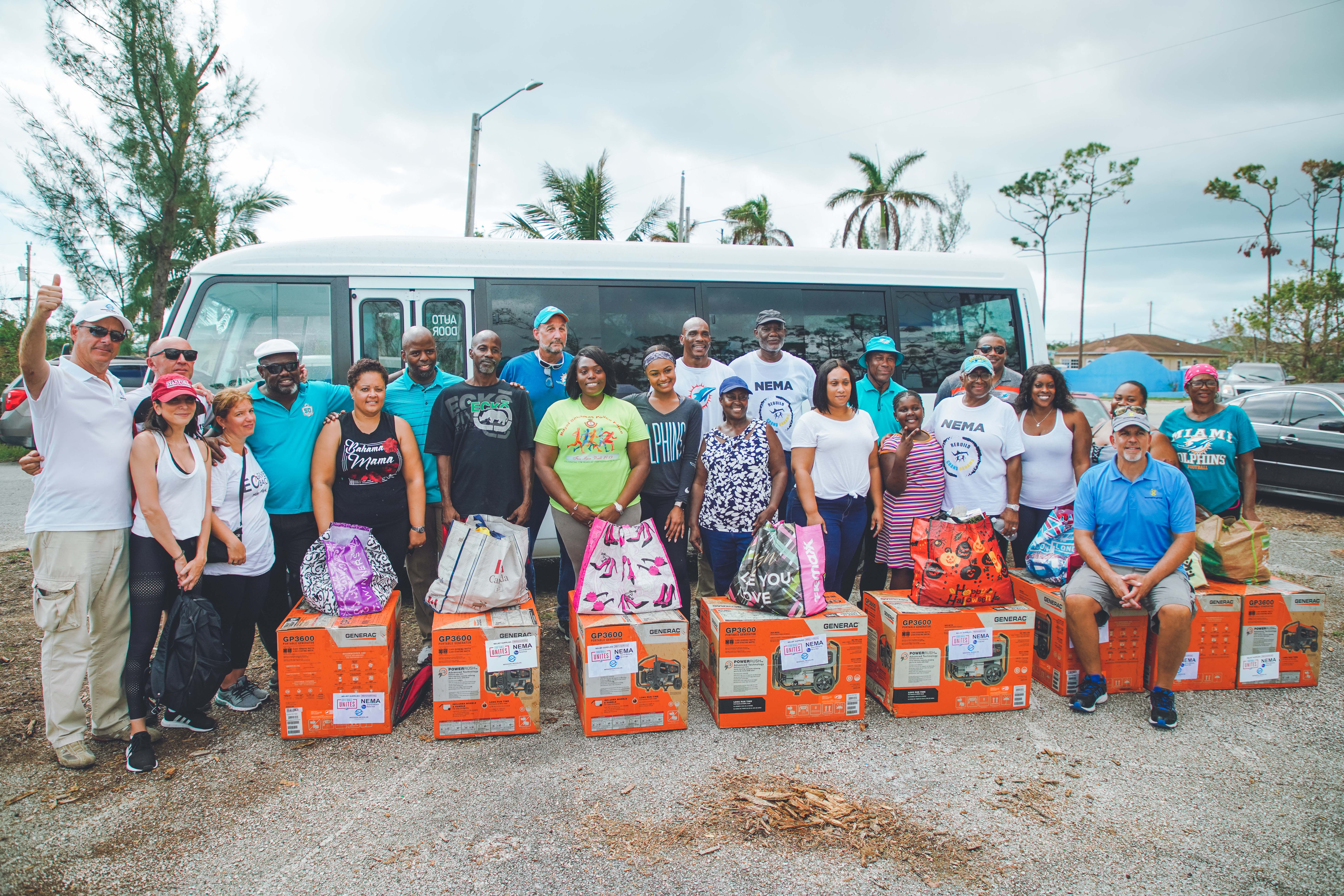 Donated Generators and other needed supplies to Bahamas residents affected by Hurricane Dorian