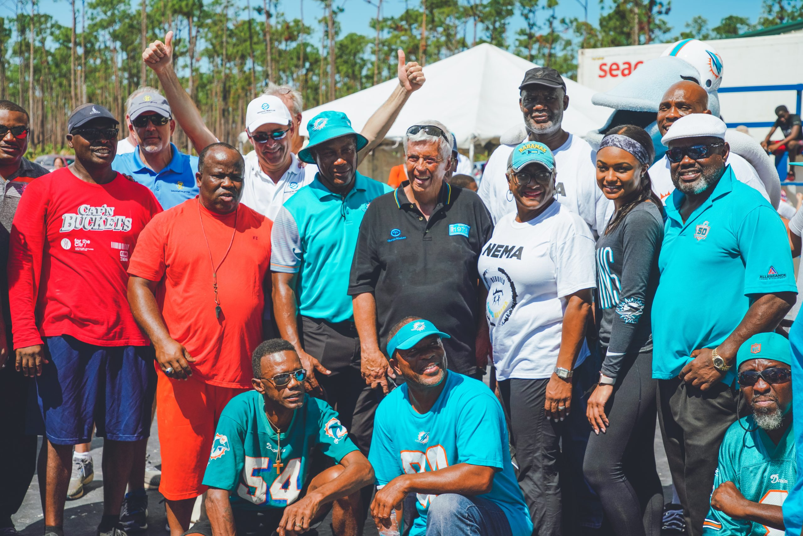 Falcons Boys Club Community Gathering in Bahamas