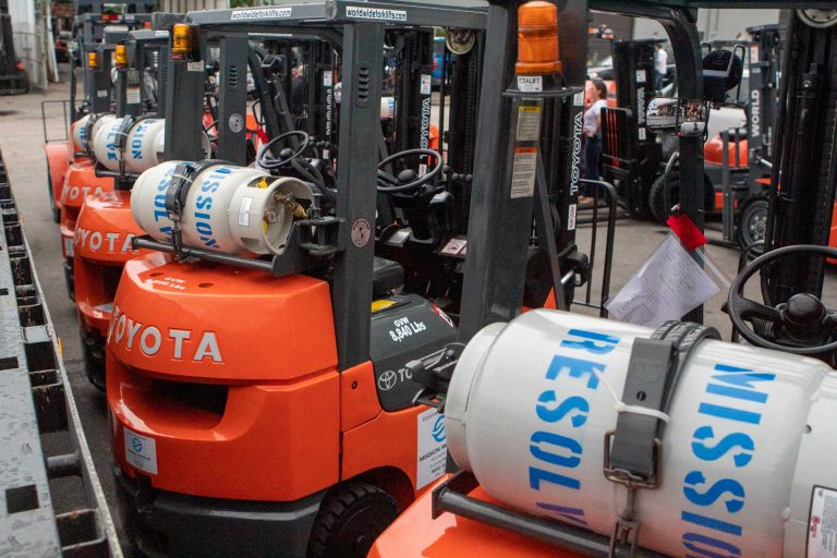 Mission Resolve Foundation forklifts
